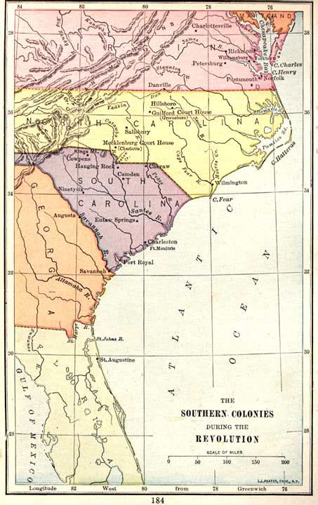 southern colonies map murrihy2010colonialproject licensed for non commercial