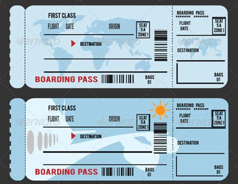 26 Exles Of Boarding Pass Design Templates Psd Ai Free Premium Templates Travel Ticket Template