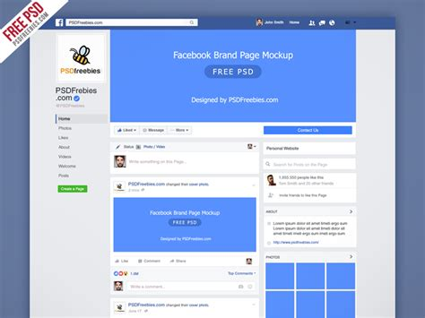 freebie facebook new brand page 2016 mockup psd by psd