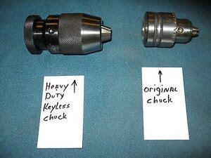 heavy duty  keyless drill chuck upgrade replaces ryobi dp chuck ebay