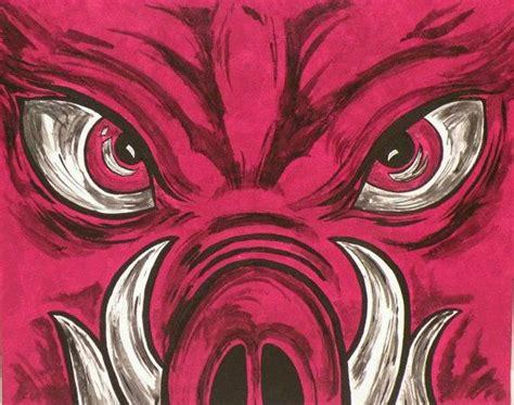 best 25 razorback painting ideas on razorback canvas arkansas razorbacks and
