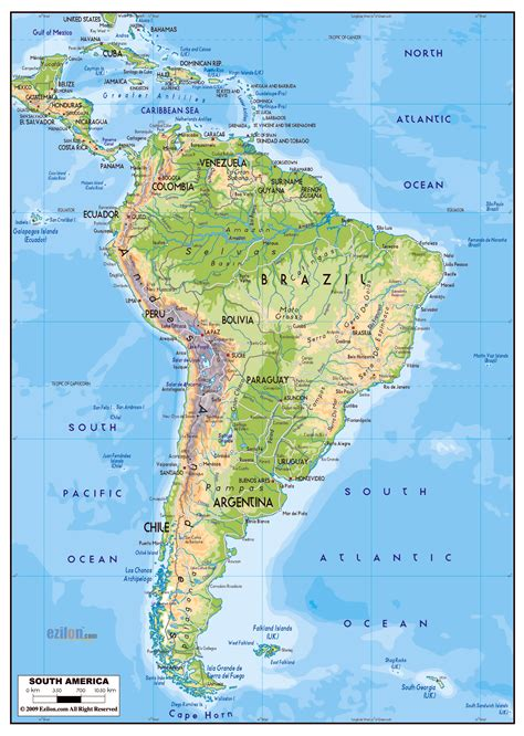 south america major cities map maps of south america and south american countries
