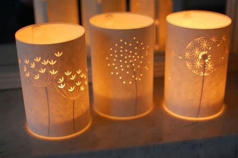 Paper Lanterns For Candles - paper glass luminaries let s