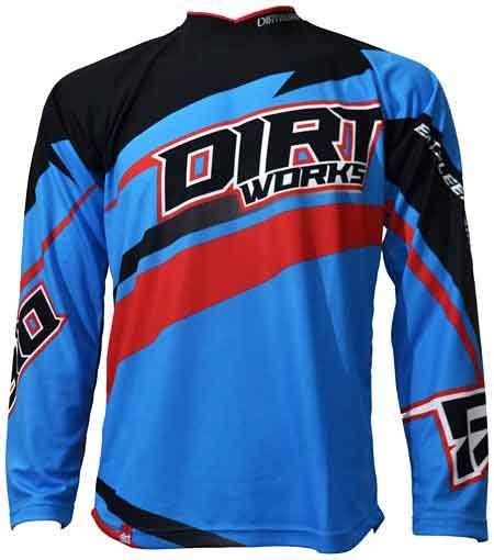 jersey sepeda dirtworks braap biru merah jual baju