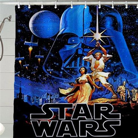 movie star shower curtain tabulous design may the fourth be with you