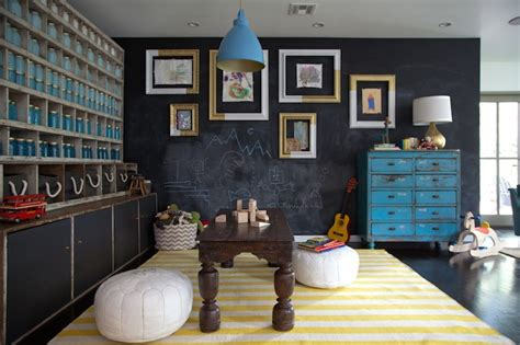 chalkboard paint living room chalkboard accent wall eclectic boy s room eric