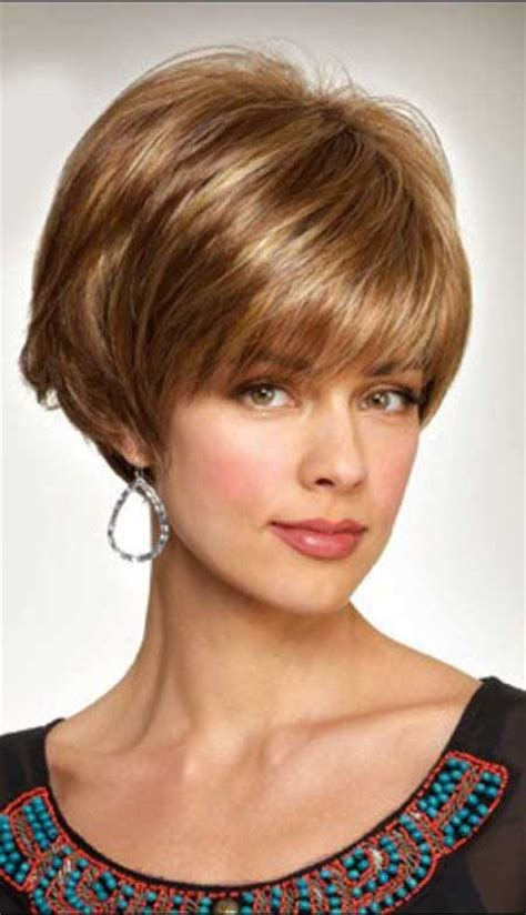 inverted layered bob with bangs shows off eyes cute hairstyles for short hair 2014 short hairstyles
