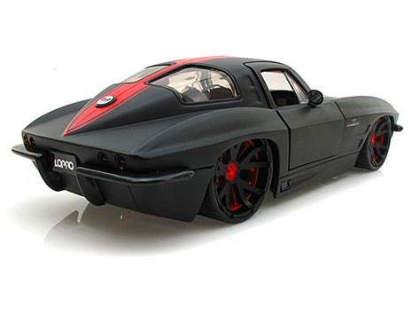 corvette stingray matte black 1963 chevy corvette stingray lopro 1 24 black w extra