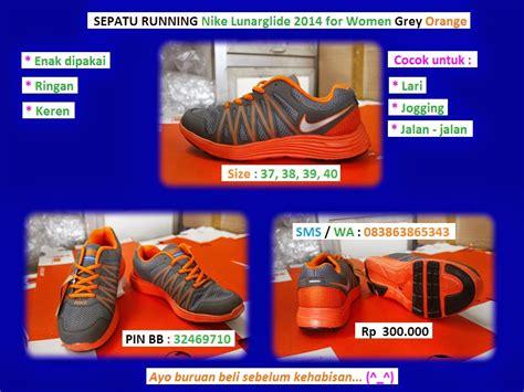 Sepatu Nike Lunar Glide Sepatu Running Joging sepatu running nike lunarglide 2014 for grey orange