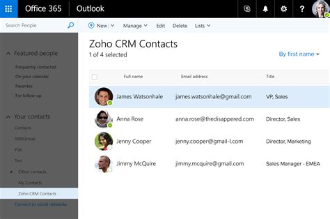 Office 365 Zoho Crm Introducing A Host Of New Features To Help You Sell