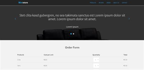 one page ecommerce template ministore one page ecommerce html php template with paypal