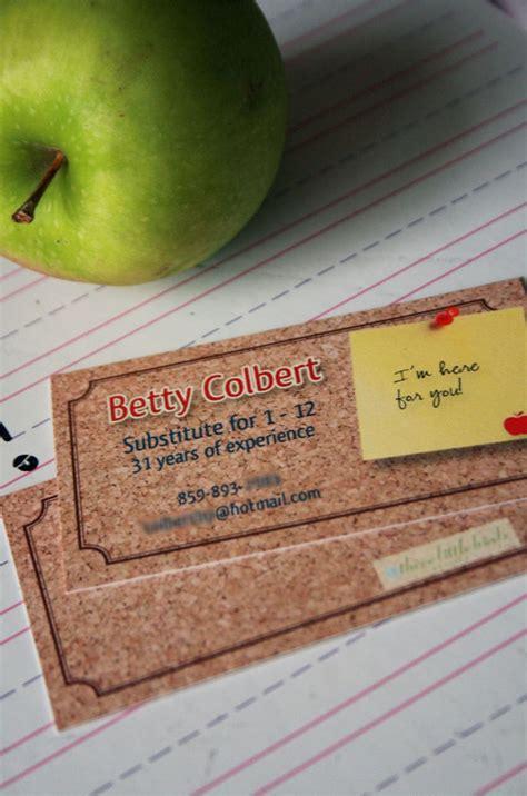substitute teacher business cards printable bureaus