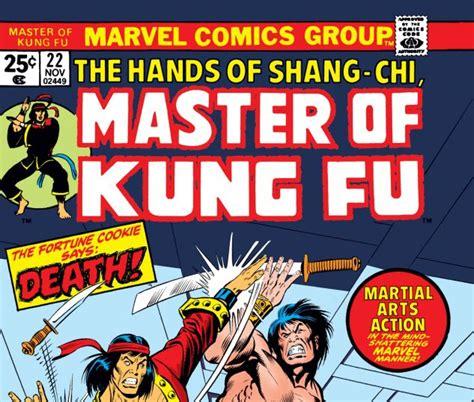 libro shang chi master of kung fu master of kung fu 1974 22 comics marvel com