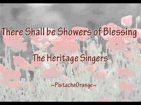Showers Of Blessings Lyrics by There Shall Be Showers Of Blessing Wmv