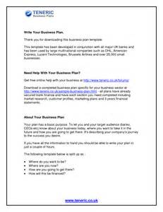 Business Plan Template Uk Free by Free Business Plan Template Uk Small Business