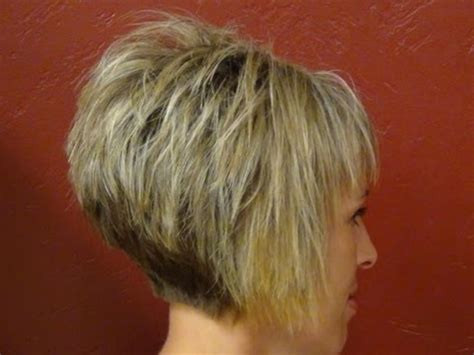 very short aline short stacked haircut straight bangs girls hairstyles