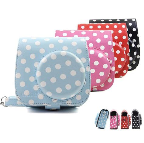 Fujifilm Leather Bag Polaroid Instax Mini 8 Hello Diskon classic pu leather polka dot bag for polaroid fujifilm instax mini 8 mini 9 shoulder