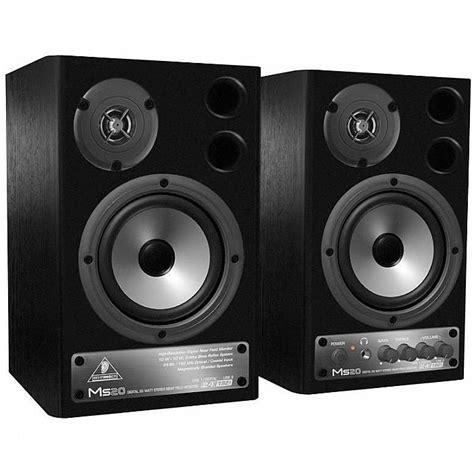 Speaker Monitor Behringer Ms 16 Original Diskon behringer behringer ms20 digital monitor speakers black pair vinyl at juno records