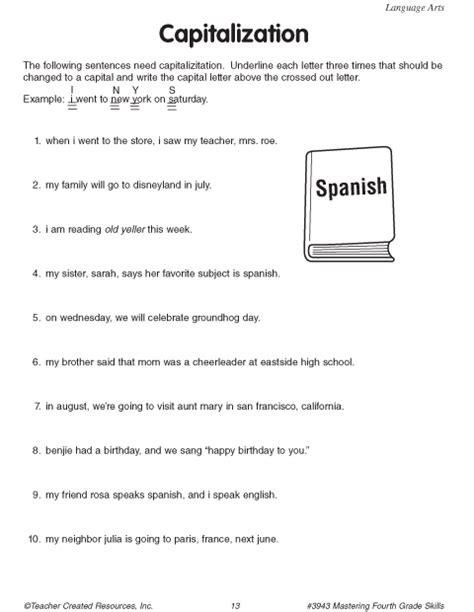 Capitalization Worksheets by Capitalization Worksheets Lesupercoin Printables Worksheets
