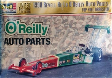 O Reilly Auto Parts Decals by 1998 Revell Nationals O Reilly Auto Parts Top Fuel