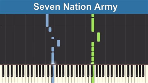 drum tutorial seven nation army seven nation army the white stripes synthesia piano