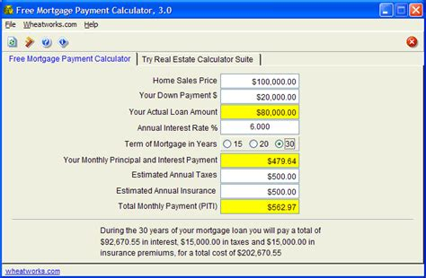 free mortgage payment calculator free this free