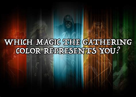 which magic the gathering color represents you
