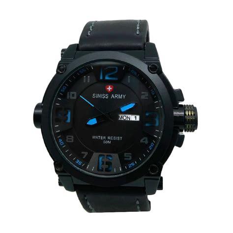 Swiss Army Date Silver Hitam jual swiss army sa 005a jam tangan pria hitam
