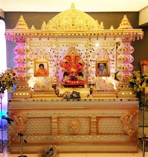 ganpati decoration ideas for home card boards varada art ganapati makhar and decoration