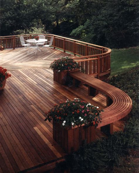 deck designs with benches cedar deck bench planter woodworking projects plans