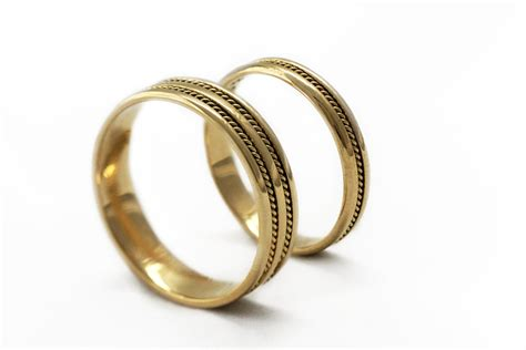 Handmade Wedding Ring Sets - gold wedding ring sets braided bands wedding band for