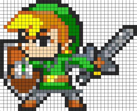 Link Pattern Zelda | link perler bead pattern bead sprites characters fuse