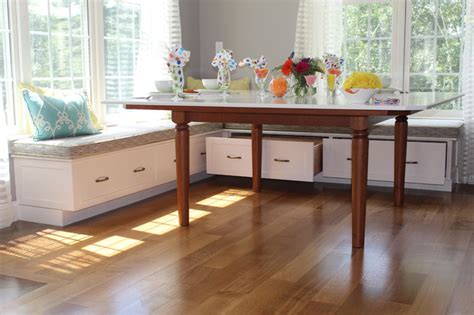built in kitchen table bench breakfast built in bench traditional kitchen boston