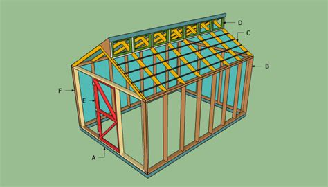free 10 x 14 shed plans shed one rapid cool shed