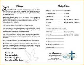 templates for obituary programs 8 free printable obituary templatesreference letters