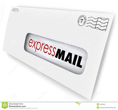 Business Letter Via Overnight Mail Express Mail Fast Expedited Shipment Delivery Letter Message Stock Illustration Image 42346051
