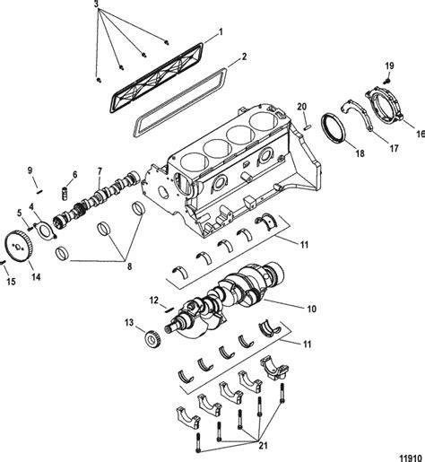mercruiser  gm    cylinder block crankshaft camshaft parts