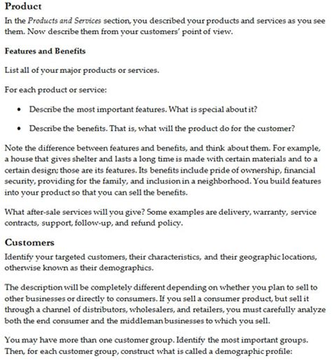 business plan free template word business plan templates