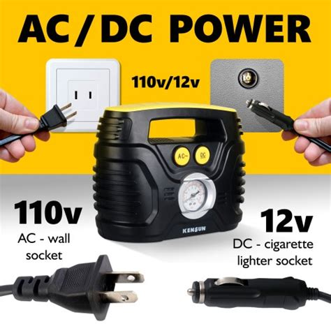 on review kensun ac dc air compressor tire inflator gadizmo