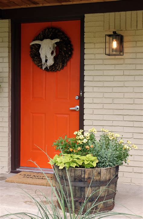orange front door for the home pinterest orange you glad that we did the cavender diary