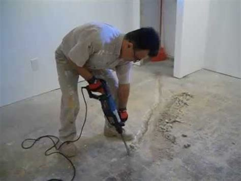 repair cracks and water leaks in basement floor part 1
