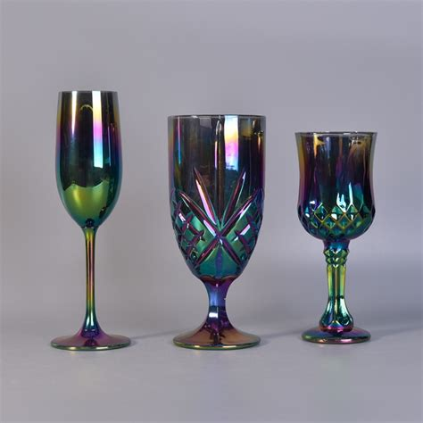 colorful wine glasses changing colorful glass flute wine glass globlet glass
