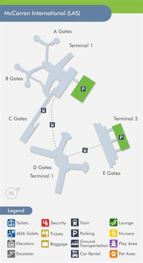 Las Vegas Airport Map by Las Vegas Airport Las Terminal Map