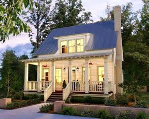 Small Cottage Style House Plans Sweet Porch Metal Roof Shell And Chinoiserie Seaside