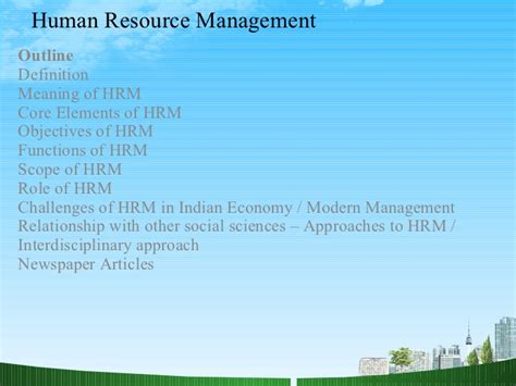 Strategic Hrm Ppt For Mba by Human Resource Management Human Resource Management Ppt
