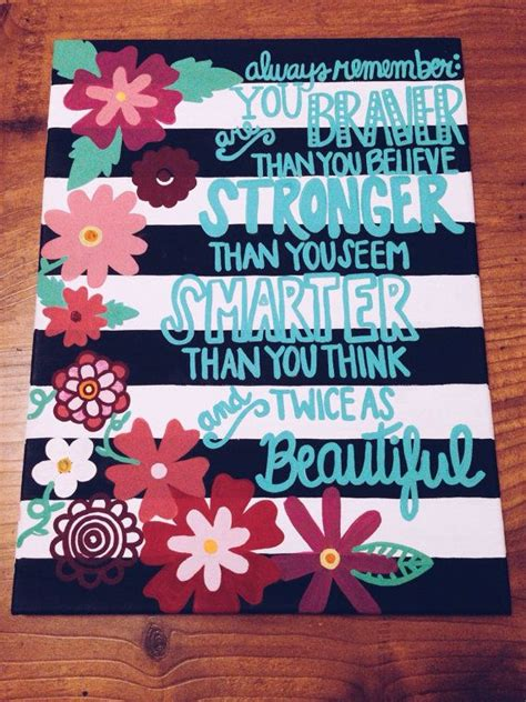 Inspirational Quote Flower Border Acrylic Canvas