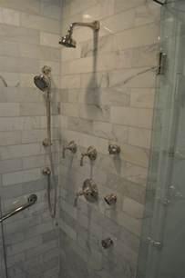 shower wall jets carrara marble shower surround design ideas