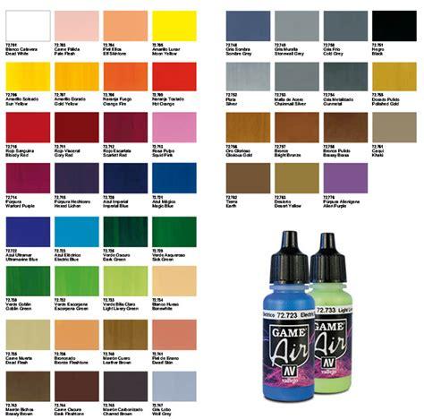 complete set vallejo air colors