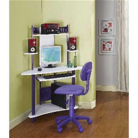 Purple Corner Desk Small Corner Computer Desk Stones Finds