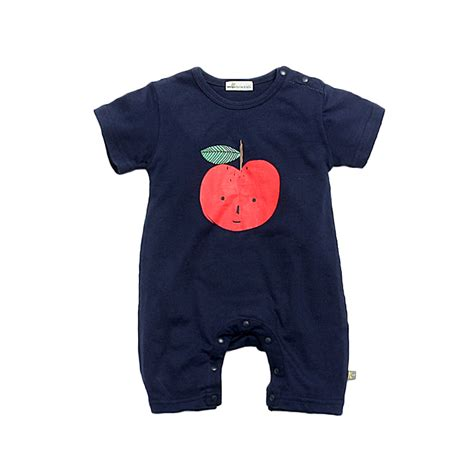 Baby Victory Printed victory check out my new apple printed cotton romper in navy for baby snagged at a
